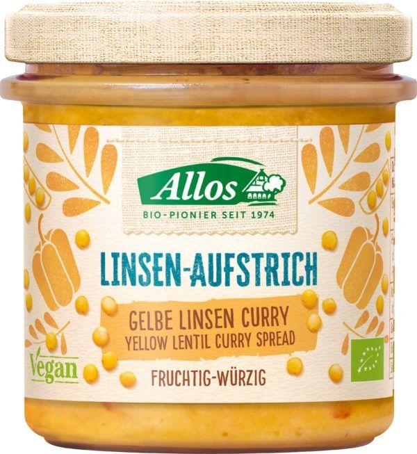 Allos Linsen-Aufstrich Gelbe Linse Curry 6x140g