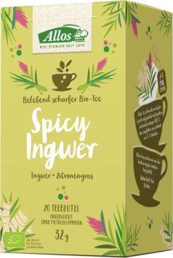 Allos Spicy Ingwer Tee 4x32g