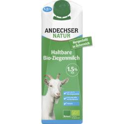 Andechser Natur Haltbare Bio-Ziegenmilch fettarm 1,5% 12x1l