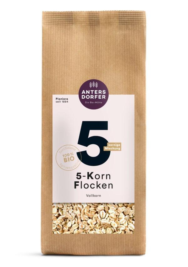 Antersdorfer - Die Bio-Mühle Bio 5-Korn Flocken (Vollkorn) 500g