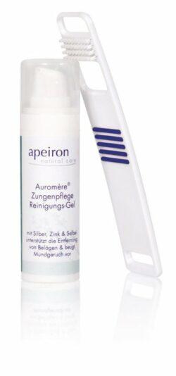 Apeiron Auromère® Zungenpflege Reinigungs-Set Intensiv-Pflegegel + Zungenreiniger 30ml