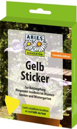 Aries Gelbsticker 6x7Stück
