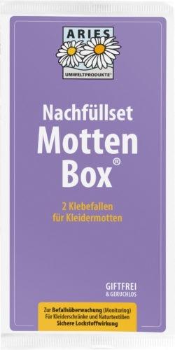 Aries Nachfüllset Mottenbox 2 Klebefallen für Kleidermotten 10x2Stück