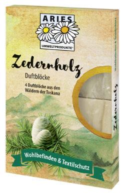 Aries Zedernholz Duftblöcke 4er Set 8x4Stück