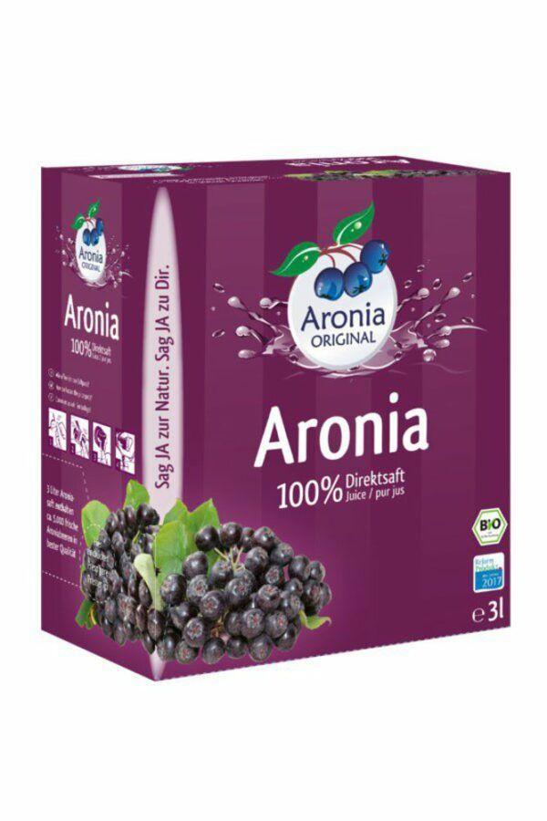 Aronia ORIGINAL Aronia 100% Direktsaft 3l Bio FHM 3l