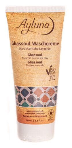 Ayluna Ghassoul Waschcreme - Marokkanische Lavaerde 200ml