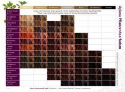Ayluna Pflanzenhaarfarbe Farbtonkarte DIN A5 1Stück