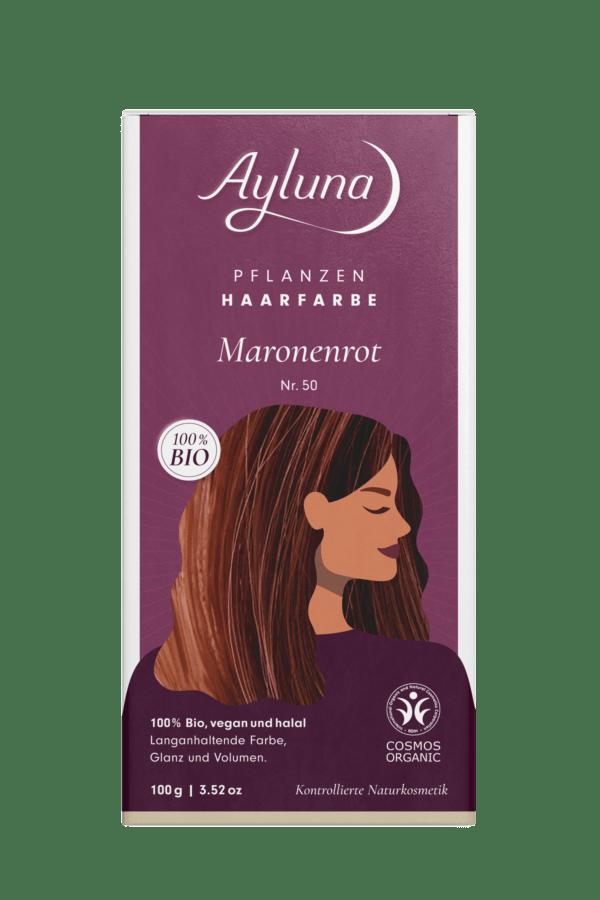 Ayluna Pflanzenhaarfarbe Nr. 50 Maronenrot 100g
