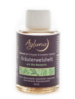 Ayluna Shampoo Kräuterweisheit bei Schuppen & trockener Kopfhaut mit Bio-Rosmarin 50ml