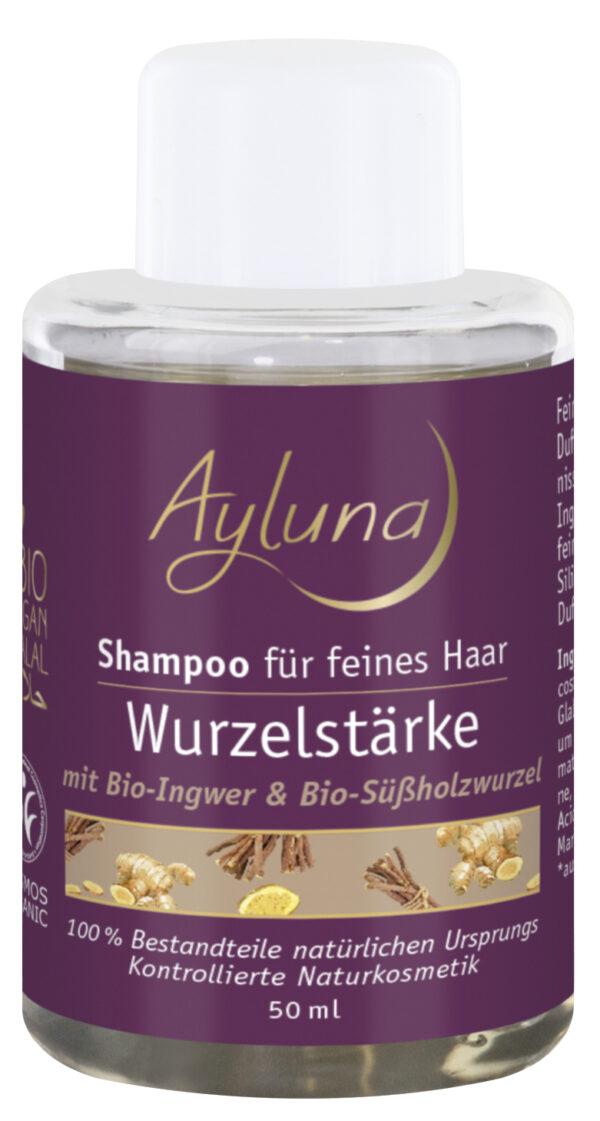 Ayluna Shampoo Wurzelstärke für feines Haar mit Bio-Ingwer & Bio-Süßholzwurzel 10x50ml