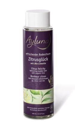 Ayluna erfrischender Badeschaum Zitrusglück mit Bio-Limette 400ml