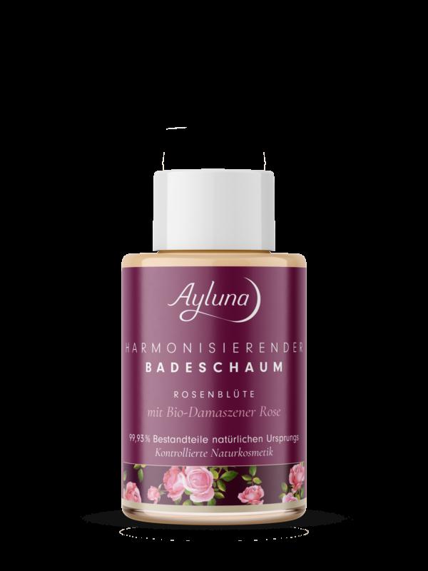 Ayluna harmonisierender Badeschaum Rosenblüte mit Bio-Damaszener Rose 10x50ml