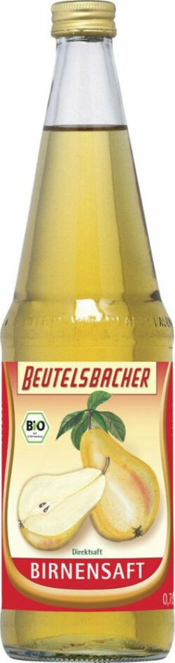 BEUTELSBACHER Bio Birnensaft klarer Direktsaft 6x0,7l