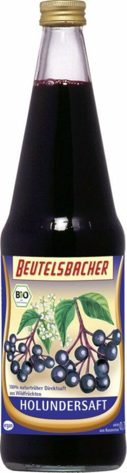 BEUTELSBACHER Bio Holundersaft naturtrüber Direktsaft 6x0,7l