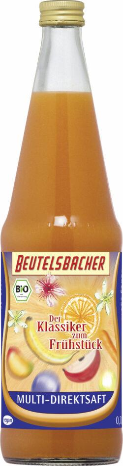 BEUTELSBACHER Bio Multi-Direktsaft, Der Klassiker zum Frühstück 6x0,7l