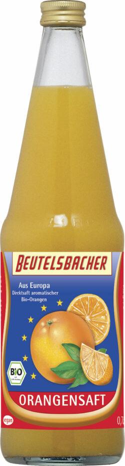 BEUTELSBACHER Bio Orangensaft Direktsaft Europa 6x0,7l