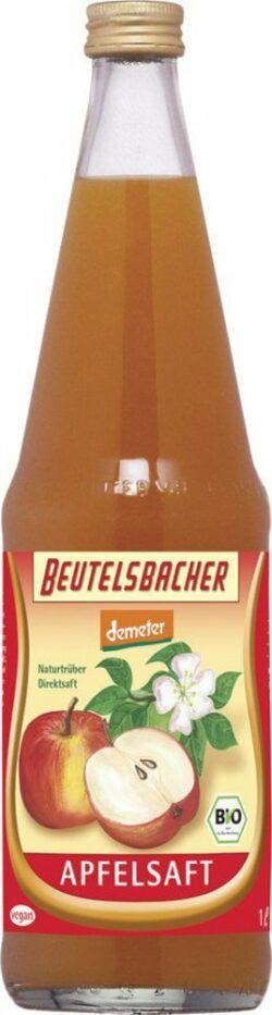 BEUTELSBACHER Demeter Apfelsaft naturtrüber Direktsaft 6x1l