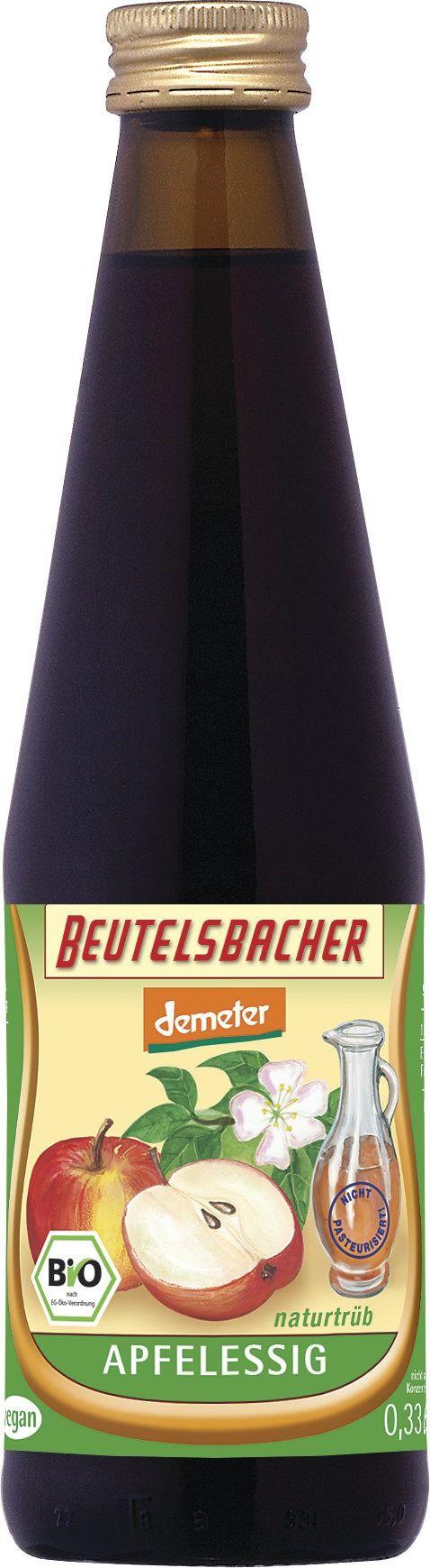 BEUTELSBACHER Demeter Apfelessig trüb 12x0,33l