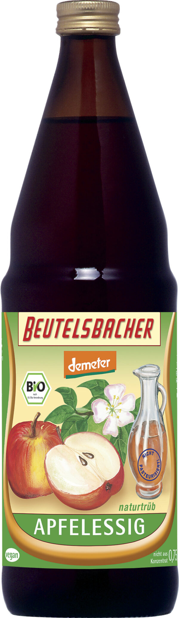 BEUTELSBACHER Demeter Apfelessig naturtrüb 6x0,75l