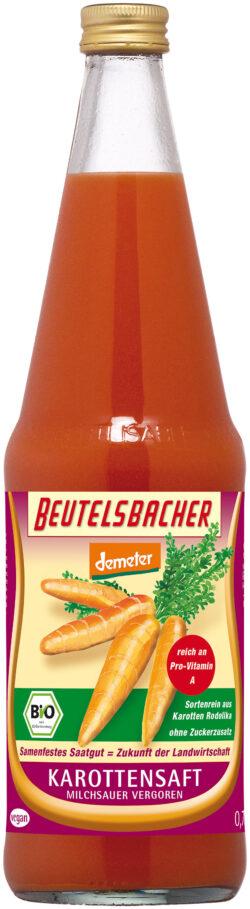BEUTELSBACHER Demeter Karottensaft milchsauer vergoren Rodelika 6x0,7l