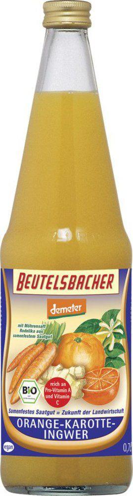 BEUTELSBACHER Demeter Orange-Karotte-Ingwer Direktsaft 6x0,7l