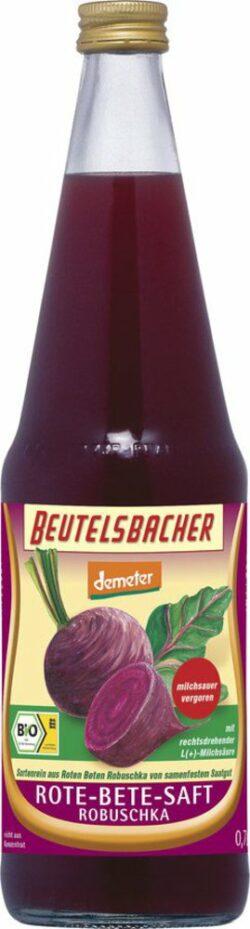 BEUTELSBACHER Demeter Rote-Bete-Saft milchsauer vergoren 6x0,7l