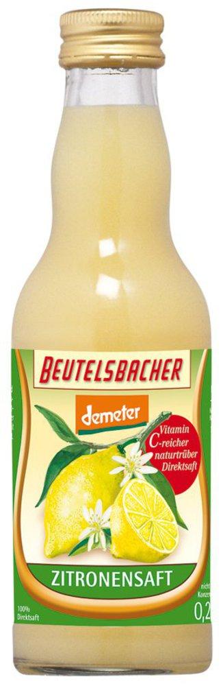 BEUTELSBACHER Demeter Zitronen Direktsaft 0,2l