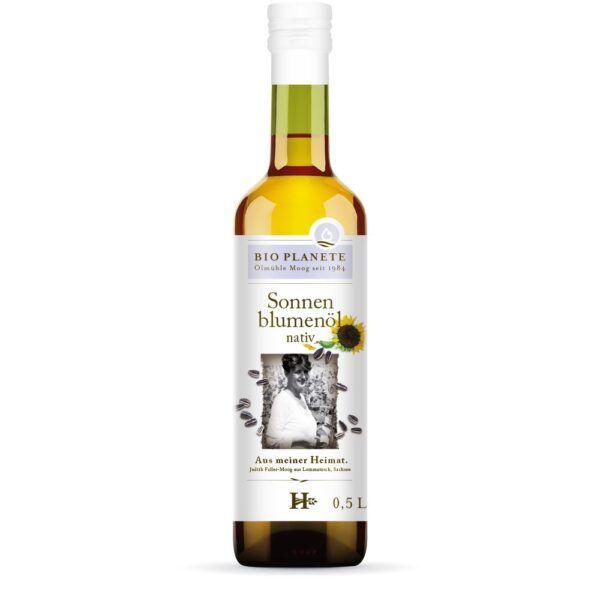 BIO PLANÈTE Sonnenblumenöl nativ aus deutscher Herkunft 6x0,5l