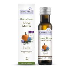 BIO PLANÈTE Omega Green Leinöl-Mixtur 4x0,1l