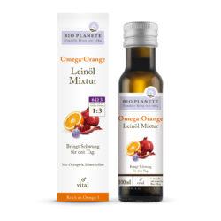 BIO PLANÈTE Omega Orange Leinöl-Mixtur 4x0,1l