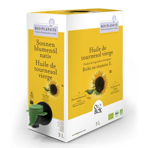 BIO PLANÈTE Sonnenblumenöl nativ OIL IN BOX 3l