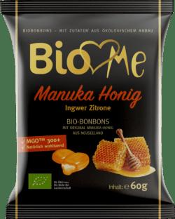BIO loves Me Manuka Honig Ingwer-Zitrone Bio-Bonbons 15x60g