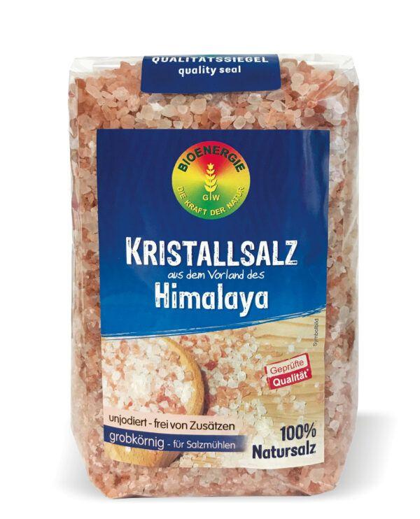 BIOENERGIE KRISTALLSALZ aus dem Vorland des Himalaya grobkörnig - für Salzmühlen, unjodiert 10x1000g