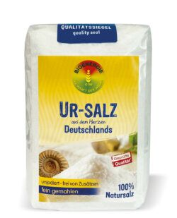 BIOENERGIE UR-SALZ aus dem Herzen Deutschlands, fein gemahlen, unjodiert, frei von Zusätzen 10x1000g