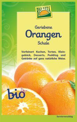 BIOVITA Geriebene Orangenschale bio 12x11g