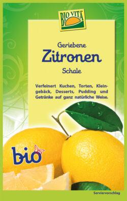 BIOVITA Geriebene Zitronenschale bio 12x11g