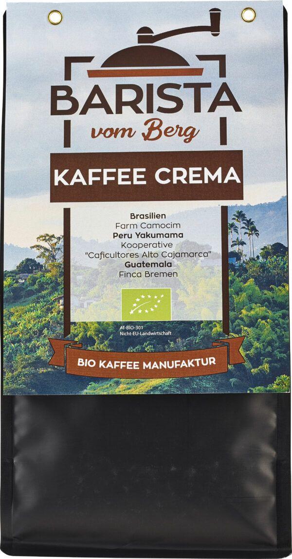 Barista vom Berg Bio Cafe Crema 500 g - ganze Bohne 8x500g