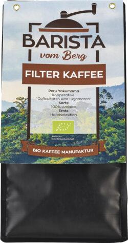 Barista vom Berg Bio Filter 500 g - gemahlen 8x500g