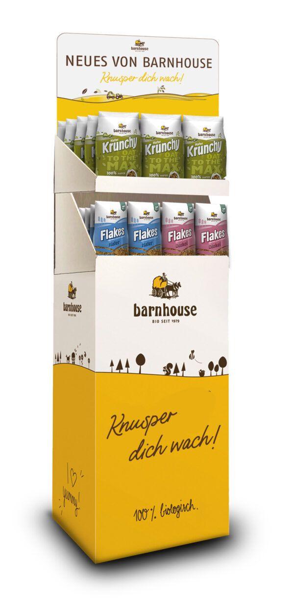 Barnhouse  Display Krunchy Oat to the Max & Banhouse Flakes 1Stück