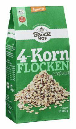 Bauckhof 4-Korn Flocken ohne Weizen Demeter 8x500g
