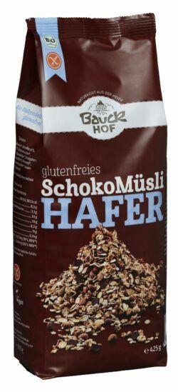 Bauckhof Hafer Müsli Schoko glutenfrei Bio 6x425g