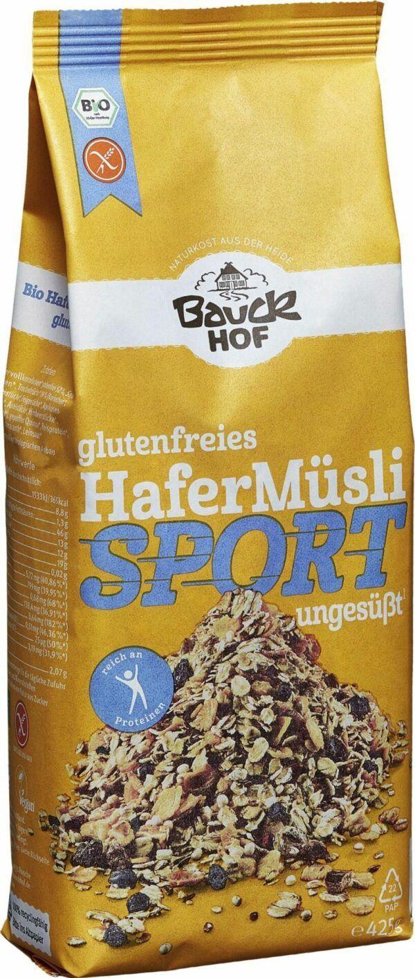 Bauckhof Hafer Müsli Sport glutenfrei Bio 6x425g