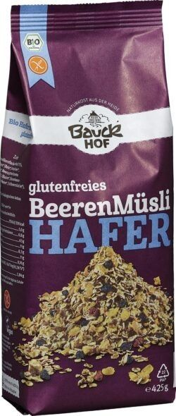 Bauckhof Hafer Müsli Beeren glutenfrei Bio 6x425g