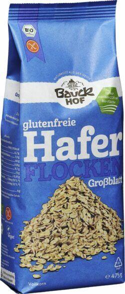 Bauckhof Haferflocken Großblatt glutenfrei Bio 6x475g