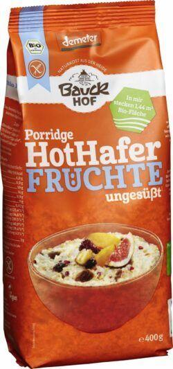Bauckhof Hot Hafer Früchte glutenfrei Demeter 6x400g