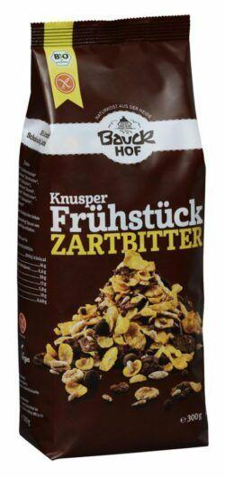 Bauckhof Knusper Frühstück Zartbitter glutenfrei Bio 6x300g