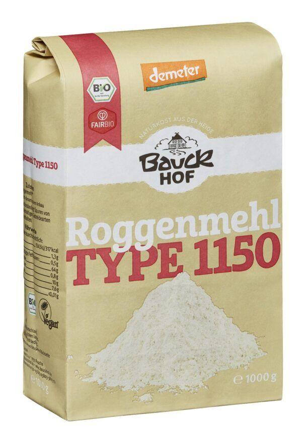 Bauckhof Roggenmehl Type 1150 Demeter 8x1000g