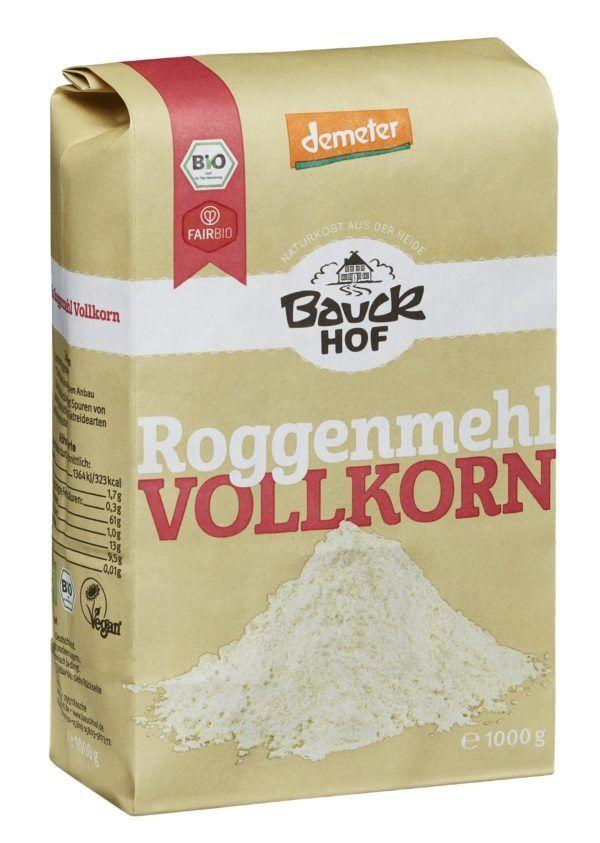 Bauckhof Roggenmehl Vollkorn Demeter 8x1000g