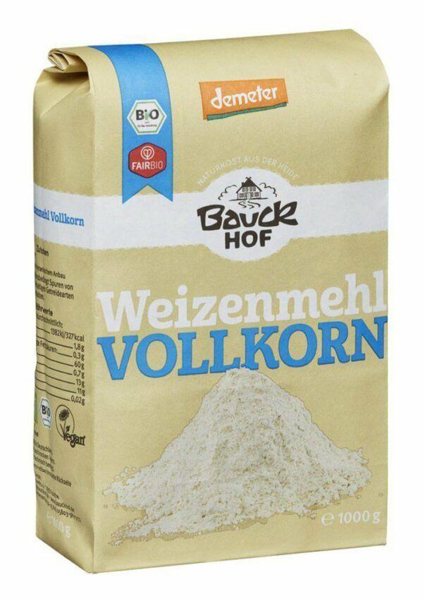 Bauckhof Weizenmehl Vollkorn Demeter 8x1000g