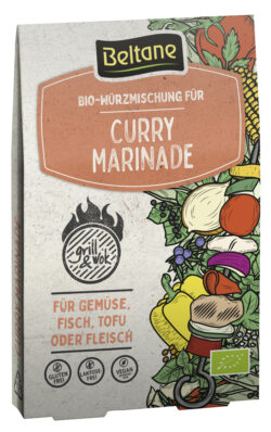 Beltane Grill&Wok Würzmischung für Curry Marinade, vegan, glutenfrei, lactosefrei 10x28,8g